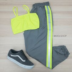 Cute Nike Outfits, Neon Outfits, Cute Lazy Outfits, Sporty Outfits, Swag Outfits, Retro Outfits, Stylish Outfits, Girls Fashion Clothes, Teen Fashion Outfits