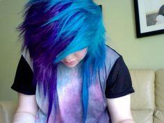 ll emo hair ll Emo Scene Hair, Emo Hair, Beautiful Hair Color, Cool Hair Color, Hair Colors, Alternative Hair, Haircut And Color, Dye My Hair, Crazy Hair