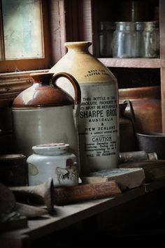 Window shelf of vintage junk by *Georgina-Gibson on deviantART please add me to this board thank you so much