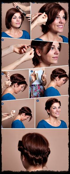 Hairstyles 2013  Hair Ideas  Updos: Top 9 Cute Easy Updos for Short hair- Simple hairstyles