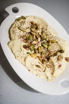 #hummus #pumpkin #seeds #sumac #dinner #foodcoaching