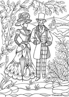 Couple - FavoReads - Free Kindle Books and Adult Coloring Pages