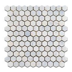 "Oriental White - Eastern White Marble 1"" Hexagon HONED Mosaic Tile - 6"" X 6"" Sample Oracle Tile & Stone http://www.amazon.com/dp/B008HZ45YM/ref=cm_sw_r_pi_dp_NOn0wb1RNMV08"