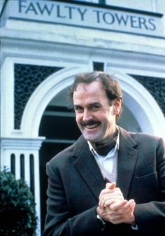 FAWLTY TOWERS (1975 - 1979) ... great British sitcom! ... with John Cleese (Monty Python) ... http://en.wikipedia.org/wiki/Fawlty_Towers