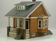EARLY BUNGALOW. Cute little dollhouse.  .....Rick Maccione-Dollhouse Builder www.dollhousemansions.com