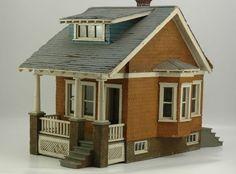 EARLY BUNGALOW. Cute little dollhouse.  .....Rick Maccione-Dollhouse Builder www.dollhousemansions.com