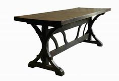 Old French Farmhouse Dining Table Oak Refectory Country Kitchen