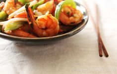 """This Chinese Trinidadian Stir-Fried Shrimp with Rum recipe is from """"Stir-Frying to the Sky's Edge: The Ultimate Guide to Mastery, With Authentic Recipes and Stories, """" by Grace Young  Read more here: http://therecipe.nandoweb.net/chinese-trinidadian-stir-fried-shrimp-with-rum/#storylink=cpy"""