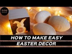 How to woodburn easter decoration / Easy woodburning / artistblend Woodburning, Pyrography, Make It Simple, Easter, Make It Yourself, Decoration, Youtube, How To Make, Decor