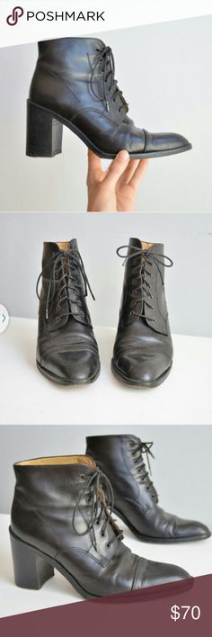 Vintage boots 1980s sz 6 Label says browns made in Italy it's a sz 6. Look to have been worn only a few times in excellent condition.   Leather. Tagged acne for exposure Acne Shoes Ankle Boots & Booties