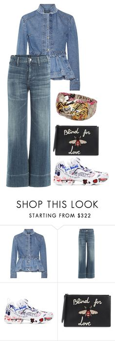 """""""BLIND FØR LØVE"""" by beakpettersen ❤ liked on Polyvore featuring Alexander McQueen, Citizens of Humanity, Reebok and Gucci"""