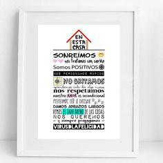 En esta casa.. Estas son nuestras normas!!  Cuales son las tuyas?  Consigue esta lámina en http://ift.tt/1n71PmC  #virusdlafelicidad #enestacasa #nuestrasnormas