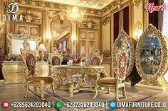 Luxury Golden Cruise Meja Makan Mewah Ukiran Jepara New 2020 Empire Style BT-0806