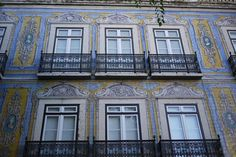 PORTUGAL:LISBON.Portuguese tiles (azulejos)...can be seen everywhere,in the train stations,walls of churches and monasteries, palaces, fountains, railway stations, and even ordinary homes.