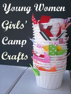 Cute crafts ideas for girls' camp.