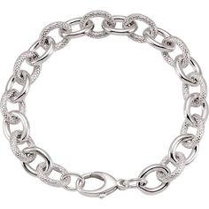 Sterling Silver Verdi Link Bracelet  #style #fashionista #fashionblog #lookbook #jewelry #fashion