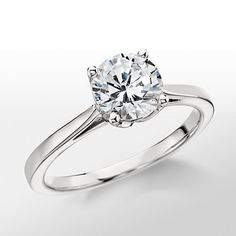 Monique Lhuillier Cathedral Solitaire Engagement Ring...beautiful!!!! Simple and beautiful!!!