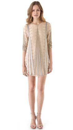 Parker Art Deco Beaded Dress