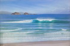 Wanna paint waves like this?  Check out Mark's page on painting waves for some great info on painting with acrylics!