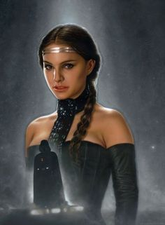 """""""Forbidden"""" a Star Wars painting of Darth Vader, formerly Anakin Skywalker, and his lost love, Padme Amidala"""