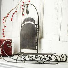 Whimsical Rustic Metal Sleighs - Table/Shelf Decorations - Christmas and Winter - Holiday Crafts