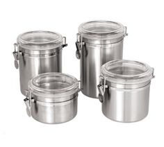 55-oz Storage Canister - Stainless/Plastic Lid