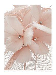 Blush Twist & Diamante Flower Fascinator