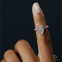 c9c12e5ae CHELSEA, engagement ring set in yellow gold with a carats pear shaped  diamond, exclusively by Jean Dousset.