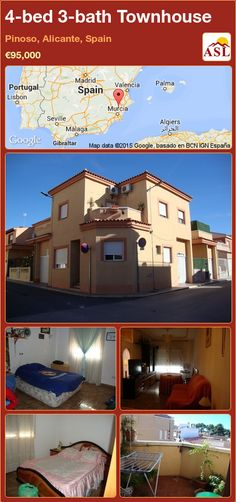 Townhouse for Sale in Pinoso, Alicante, Spain with 4 bedrooms, 3 bathrooms - A Spanish Life Murcia, Valencia, Portugal, Marble Staircase, Alicante Spain, Family Bathroom, Central Heating, Double Bedroom, Ground Floor