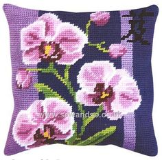 Shop online for Orchid Cushion Needlepoint Cushion Kit at sewandso.co.uk. Browse our great range of cross stitch and needlecraft products, in stock, with great prices and fast delivery.