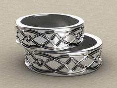 anillos de promesa plateados