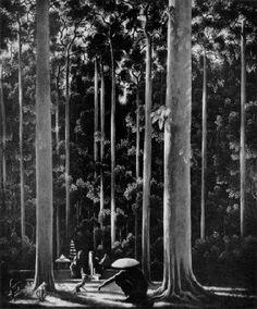 Walter Spies - Heiliger Wald Bei Sangsit (1930)