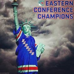 Presenting your 2014 Eastern Conference Champions. The New York Rangers are headed to the NHL Stanley Cup Final. Flyers Hockey, Ice Hockey Teams, Hockey Players, Soccer, New York Rangers, New York Giants, Nhl Stanley Cup Finals, Rangers Hockey, Different Sports