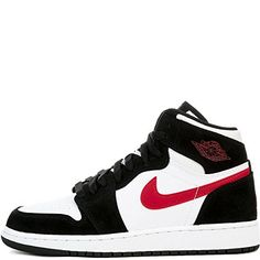 new products 315e3 db94e Nike Boys Air Jordan 1 Retro High Basketball Shoe BlackGym RedWhite -- You  can get more details by clicking on the image.