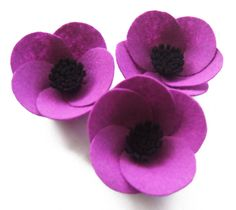 lilac felt poppy brooch by isolyn | notonthehighstreet.com