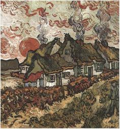 Cottages by Vincent van Gogh