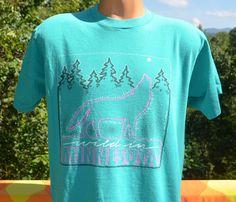 80s vintage t-shirt wild MINNESOTA howling wolf by skippyhaha