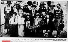 L'équipe américaine à bord de l'Aquitania