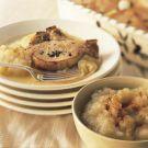 Apple-Roasted Pork Chops with Roast Applesauce