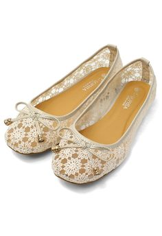 Bow Crochet Flat Shoes - Goods - Retro, Indie and Unique Fashion