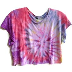 Tie Dyed Crop Top Custom Made Any Color Tie Dye Festival Clothing... ($25) ❤ liked on Polyvore featuring tops, t-shirts, shirts, crop tops, long t shirts, tie-dye shirts, long tee, tye dye shirts and rose t shirt