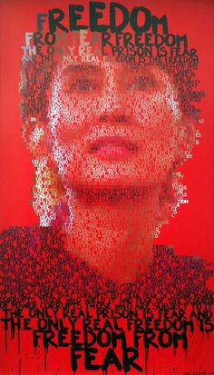 Aung San Suu Kyi  by Mike Edwards  Brighton, United Kingdom  Mixed media, paint on wood  58.7 x 34.6 in