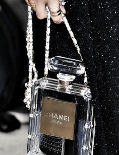 Chanel Cruise 2014 Perfume Bottle Bag Save by Antonella B. Perfume Chanel, Coco Chanel, Chanel Boy Bag, Chanel Bags, Chanel Clutch, Clutch Purse, Chanel Fashion Show, Fashion Bags, Paris Fashion