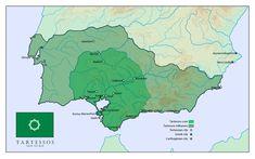 IBERIA. (Pre-Roman Spain) - Tartessos map by SalesWorlds