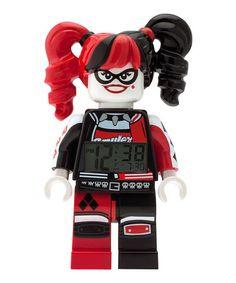 Love this LEGO® BATMAN MOVIE Harley Quinn™ Minifigure Light-Up Alarm Clock on #zulily! #zulilyfinds