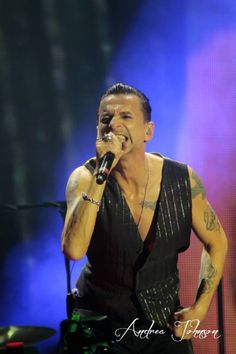 Dave Gahan of Depeche Mode photo by Andrea Johnson
