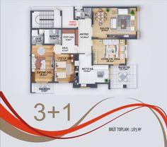 Home Design Plans, Plan Design, Architecture Plan, Interior Architecture, Residential Building Design, Unit Plan, Dream House Plans, Types Of Houses, Modern Buildings