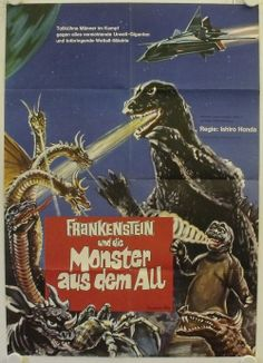 German poster for DESTROY ALL MONSTERS.