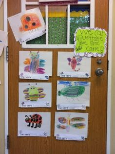 Eric Carle insect illustrations