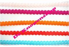 Elastisch zigzaghaarband oranje   Elastisch haarband elastiek diversen   Fournituren & hobby
